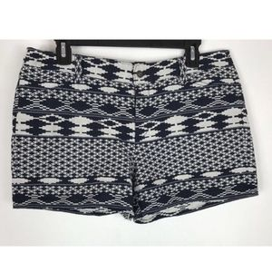 Laundry by Shelli Segal Aztec Blu Cream Shorts 4